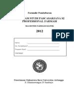 04 Formulir Magister Farmasi Klinik Online 2012