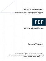 James Tenney - Meta-Hodos
