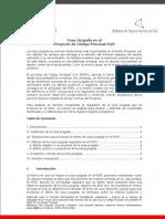 Cosa juzgada en el Proyecto de Código Procesal Civil chileno.
