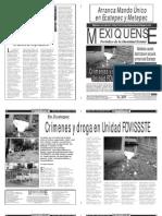 Versión impresa del periódico El mexiquense  12 septiembre 2013