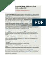 Deducere TVA Bonuri Fiscale Si Deducere TVA La Bonurile de Achizitii Combustibili