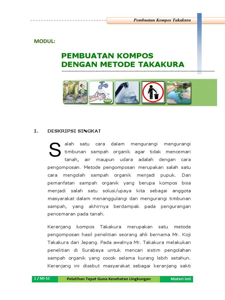 Mi 5c Modul Pembuatan Kompos Metode Takakura Pupuk Organik