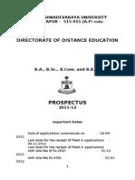 SKU- DDE - UG Prospectus - 2011 - 12