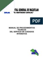 MANUAL DE PROCEDIMIENTOS DE ENFERMERIA EN LA UNIDAD DE CUIDADOS INTENSIVOS
