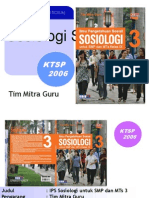 Pembelajaran Sosiologi Smp Jilid 3 smp jenagan ponorogo