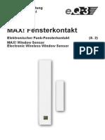 Fensterkontakt Handbuch