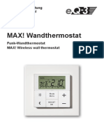 Wand Thermostat Hand Buch