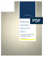 I Test Di GO4Tennis - Babolat Aeropro Drive GT 2013