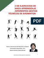 Diseño de ejercicios de enseñanza aprendizaje de Badminton