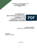 Controlul de Consitututionalitate in UE