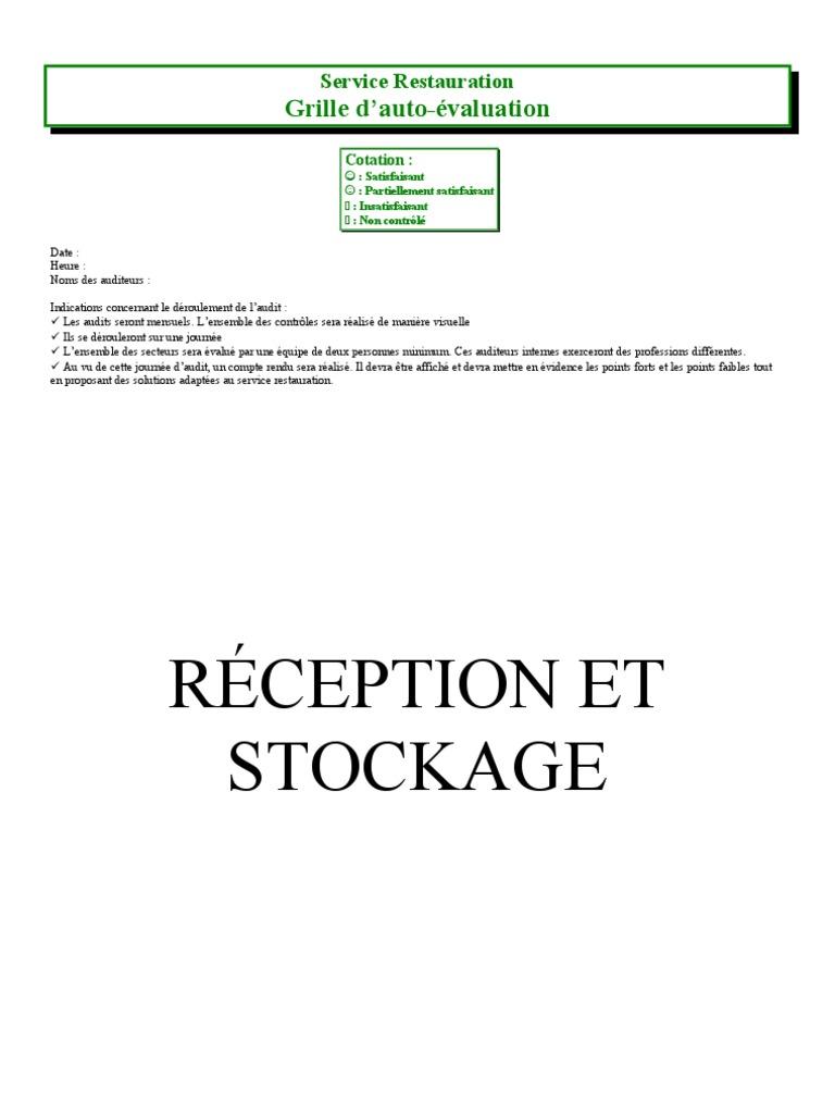 Grille audit haccp restauration - Grille d auto evaluation ...