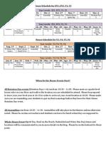 House Schedule 2013-14