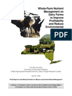 Whole-Farm Nutrient Management on Dairy Farms to Improve Profitability and Reduce Environmental Impacts
