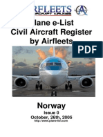 Civil Airfleets Register - Norway