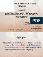 PART a - Lecture 3 Contractors and Building Contract