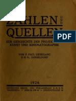 Zahlen und Quellen  F. Paul Liesegang