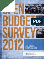 Open Budget Survey 2012