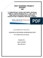 """COMPRATIVE STUDY OF MARKETING STRATEGIES BETWEEN RELIANCE FUND VS SBI MUTUL FUND"""