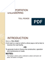 Highway and Transportation Toll Roads 2(Contruction ,Operation,Maintenance)