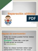 Separación silábica