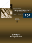 Chapter 7 - Equity Valuation