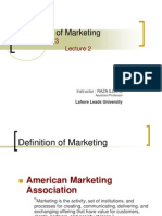 Principles of Marketing-Lcture 2
