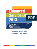 Assessing Panel Guide Enhanced Service Offer