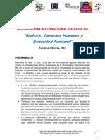DECLARACIÓN INTERNACIONAL DE ÁGUILAS  2013 def
