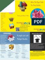 Educrafts India origami training Brochure