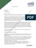 Medway Focused Inspection Letter v8 FINAL Embargoed 050913