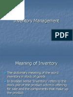 Inventory Managmient