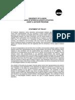 University of Illinois Statement of Policy