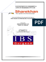 Project Sharekhan mba
