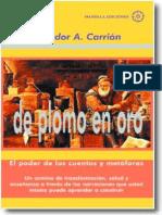 resumen libro de plomo a oro  el poder de los cuentos y metaforas Aalvador Carrión