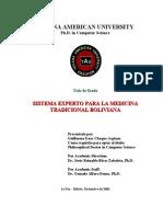 Sistema Experto Medicina Tradicional en Bolivia