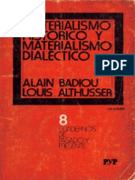 Althusser Materialismo Historico y Materialismo Dialectico Ocr