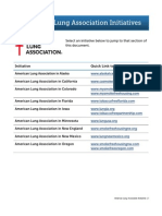 American Lung Association Initiatives