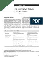 Splint for de Quervain Disease