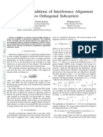 13 - Feasibility Conditions of Interference Alignment via Two Orthogonal Subcarriers