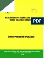 Buku Panduan Pelatih Manajemen BBLR Untuk Bidan Dan Perawat