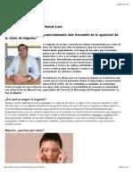 ¿Por qué se origina la migraña? Dr. Manuel Lara