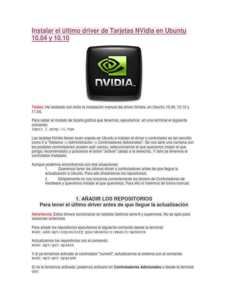 Driver Nvidis en Ubuntu