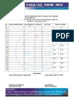 Presensi MPA FT 2013