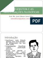 Wittgenstein e as Investigac3a7c3b5es Filosc3b3ficas