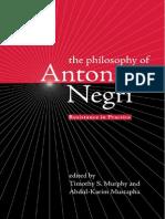 Antonio Negri Resistance in Practice