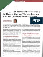 Pourquoi et comment se référer à la Convention de Vienne dans un contrat de vente internationale, La Semaine Juridique Ed. E, n_12, 22 mars 2012, p. 36.pdf