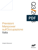Previsioni Manpower Occupazione III Trimestre 2013