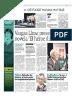 Vargas Llosa presenta su novela El héroe discreto