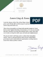 Donna Frye Letter