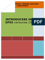 Introducere in Spss - Versiunea 19